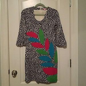 Lilly Pulitzer patterned shift dress - Size XS